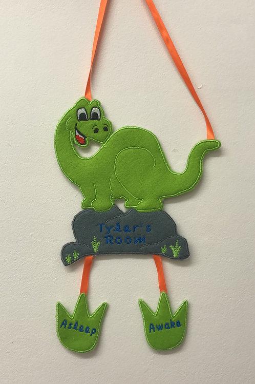 Personalised Dinosaur Door Hanger