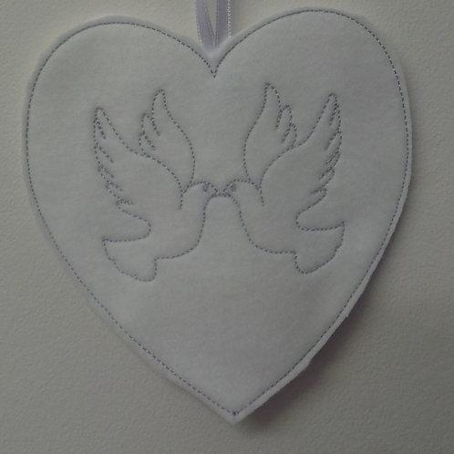Dove Hearts (wedding) 5x7 Design