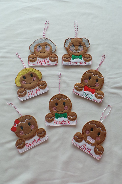 Gingerbread Name Tags