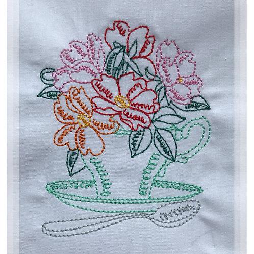 Vintage Afternoon Tea Linework designs