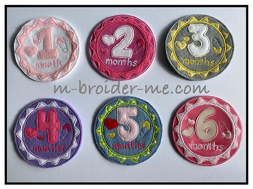 Baby Girl Milestone Badges