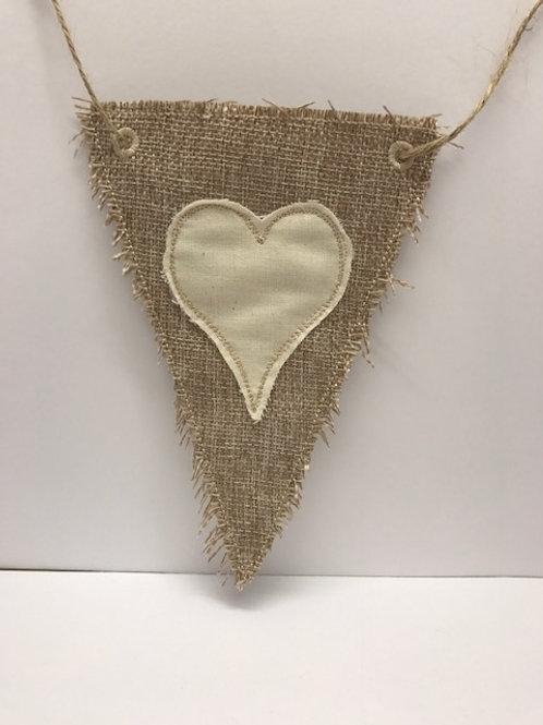 Shabby Heart Bunting Design