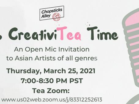 CreativiTEA Artists in March 2021