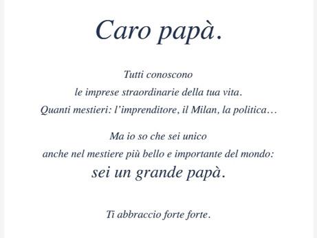 Auguri al papà Silvio!