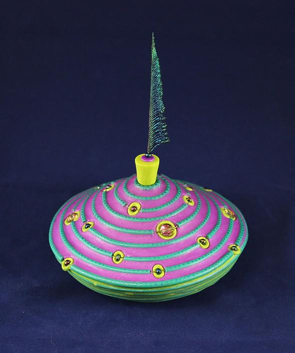 Peacock Galaxy Pot