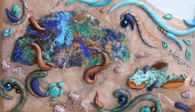 Copper-scape: Rocks & Water - detail