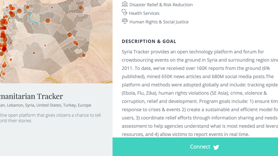 Humanitarian Tracker is among the 2017 Classy Award finalists
