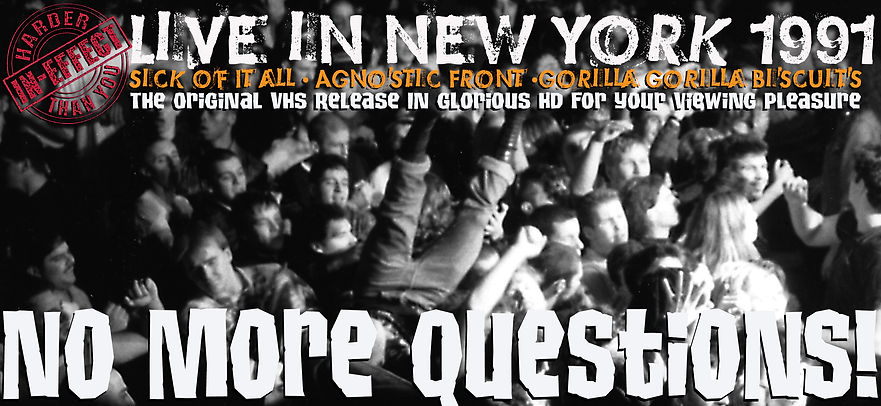 In Effect, Agnostic Fron, Sick of ot All, Gorilla Biscuits, Hardcore, Ian McFarland, Godfathers of Hardcoe, CBGB,