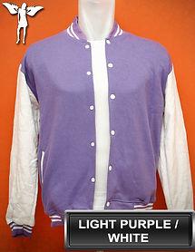 Light Purple/White Varsity Jacket, baseball jacket, college jacket