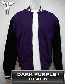 Dark Purple/Black Varsity Jacket, baseball jacket, college jacket