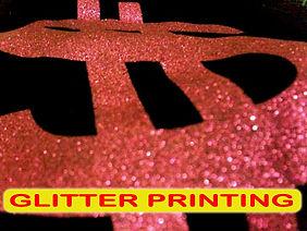 Glitter Printing, Sablon Glitter, silkscreen printing, manual print, t-shirt printing