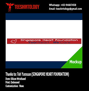 Singapore Heart Foundation Embossed Silicon Band