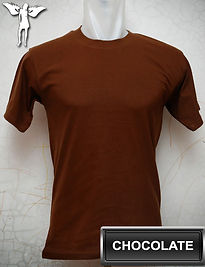 chocolate t-shirt, kaos coklat, chocolate round neck t-shirt, Chocolate crew neck t-shirt