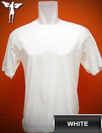 white t-shirt, kaos putih, white round neck t-shirt, white crew neck t-shirt