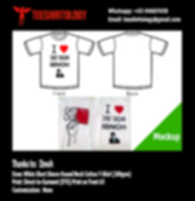 DTG A3 Printing of White Cotton T-Shirt