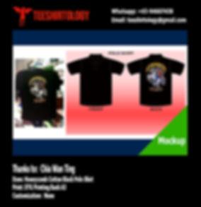 Digital A3 Print of Black Honeycomb Polo Shirt