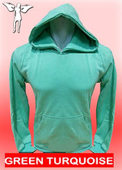 Digital Printing, Silkscreen Printing, Embroidery, Green Turquoise Hoodie, Green Turquoise Fleece Hoodie