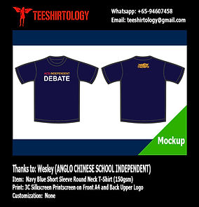 ACS Indpendent Debate Team Cotton T-Shirt Silkcreen Printing