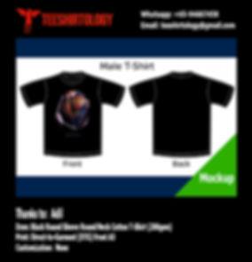 DTG print of Superman Black Cotton T-Shirt