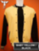 Baby Yellow/Black Varsity Jacket, baseball jacket, college jacket