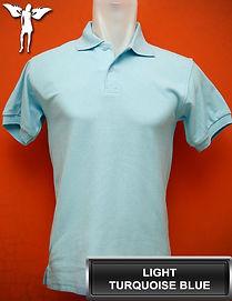 Turquoise Blue Polo Shirt, kaos polo biru turkis