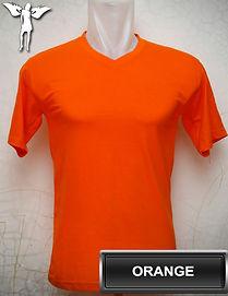 Orange v-neck t-shirt, kaos orange