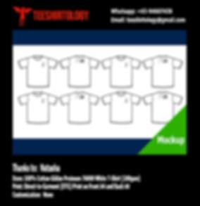 DTG Printing of White Cotton Gildan Premium 76000 T-Shirt