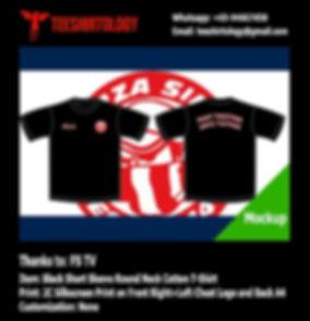 two color printscreen of FS TV cotton t-shirt