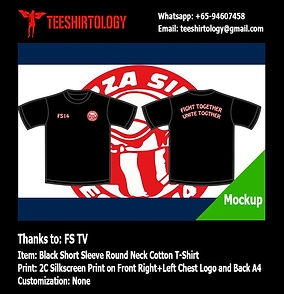 two color printscreen of FS TV cotton t-shirt