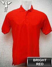 Bright Red Polo Shirt, kaos polo merah terang