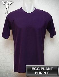 Egg Plant Purple V-Neck t-shirt, kaos ungu terong