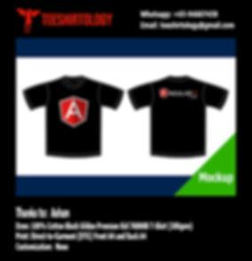 DTG Print of Black Gildan Premium 76000B T-Shirt