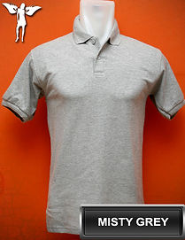 Misty Grey Polo Shirt, kaos polo abu misty
