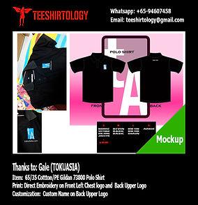 TokuAsia Black Honeycomb Cotton Gildan 73800 Polo Shirt Embroidey