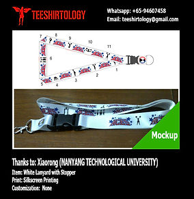 NTU Cheer Squad Silkscreen Printed Polyester Lanyard with Stopper