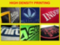 High Density Printing, Multilayer printing, sablon high density