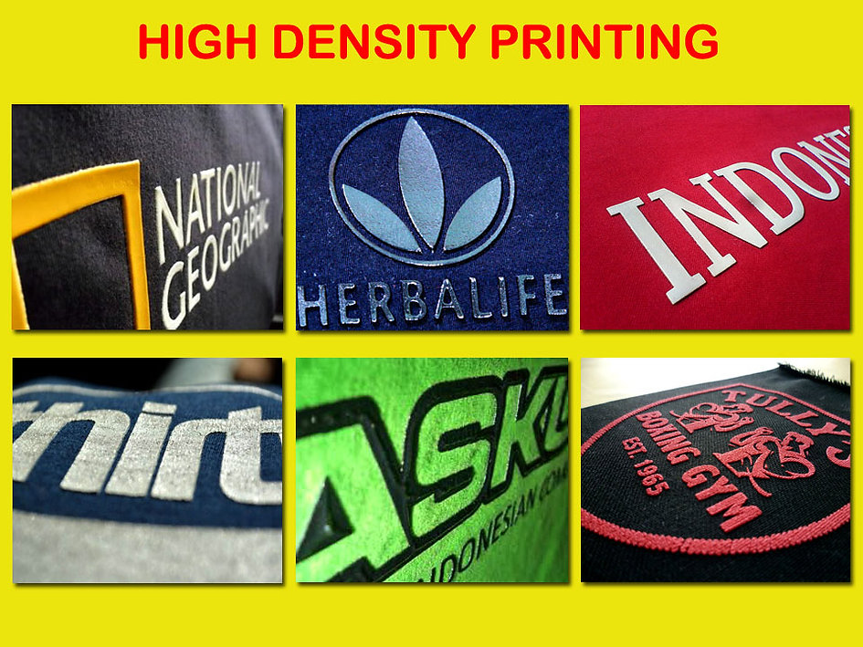 High Density Printing, Multilayer printing, sablon high density