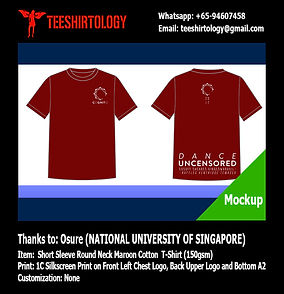 NTU Dance Event Maroon Cotton T-Shirt Silkscreen Printing