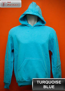 Turquoise Blue Hooded Sweater, sweater hoodie biru turkis