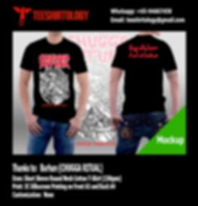 Chugga Ritual Laras Rentaka Screenprinted Black Cotton T-Shirt