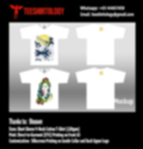 DTG Print of White V-Neck Cotton T-Shirt