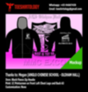 Anglo Chinese School MMC Screenprint of Black Fleece Zip Hoodie