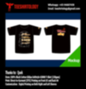 DTG and Digital Print of Racing Black Cotton T-Shirt Gildan Softstyle 63000