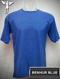 Benhur Blue T-Shirt, kaos biru benhur, royal blue round neck t-shirt, royal blue crew neck t-shirt