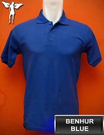 Benhur Blue Polo Shirt, kaos polo biru benhur