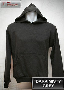 Dark Misty Grey Hooded Sweater, sweater hoodie abu misty tua