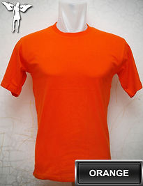 Orange T-Shirt, kaos oren, kaos orange, orange round neck t-shirt, orange crew neck t-shirt