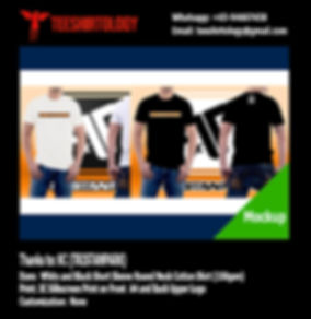 Tristan Park Screenprint of Black and White Cotton T-Shirt