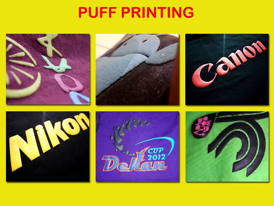 Puff Printing, Foam Printing, Sablon Puff, Sablon Foaming, t-shirt printing