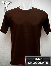 Dark Chocolate t-shirt, kaos coklat tua, dark chocolate round neck t-shirt, dark chocolate crew neck t-shirt